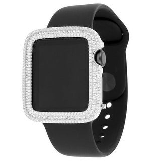 Apple Watch 38mm Stainless Steel Case Simulate Diamond Sport Band Retina Display