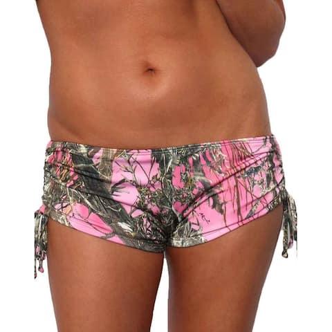 Women's Pink Camo Authentic True Timber Bikini String shorts ONLY Beach Swimwear