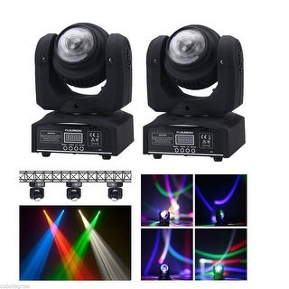 2x DMX RGBW LED Moving Double Head Light Spot Stage Beam Lighting 21CH Party DJ