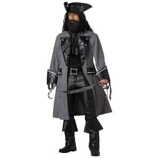 California Costumes Blackbeard, The Pirate Adult Costume - Grey