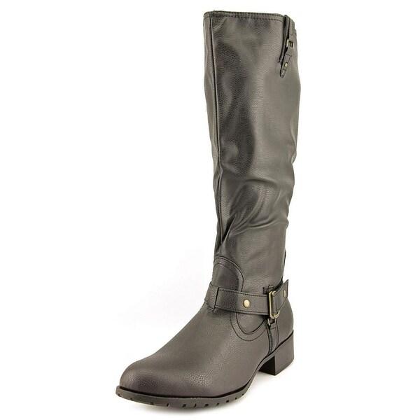 Rampage Iliya Women Round Toe Synthetic Black Knee High Boot