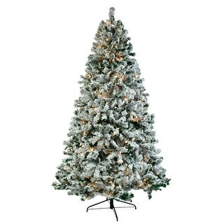 6ft/7.5ft Pvc Flocking Tied Light Artificial Christmas Tree Automatic Tree Structure