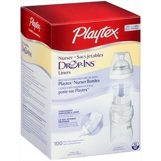 Playtex 4 Oz. Bottle Liners Drop-Ins, 100 Count
