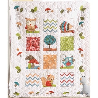 "Woodland Baby Crib Cover Stamped Cross Stitch Kit-34""X43"""