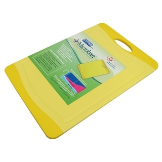 Microban Antimicrobial Cutting Board, Yellow, 14.5X10 Inches