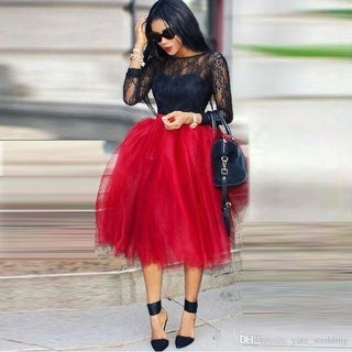 bc0c6d6741 Shop Fluffy Red Tulle Skirt for Women - Free Shipping Today - Overstock -  23168786
