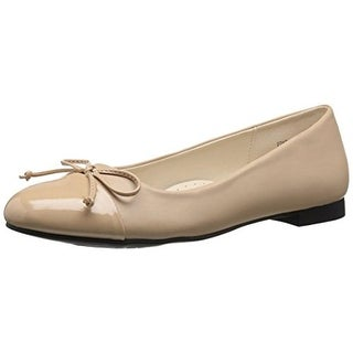 Annie Womens Edyth Ballet Flats Faux Leather Bow - 10 medium (b,m)