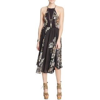 Free People Womens Sundress Midi Floral Print
