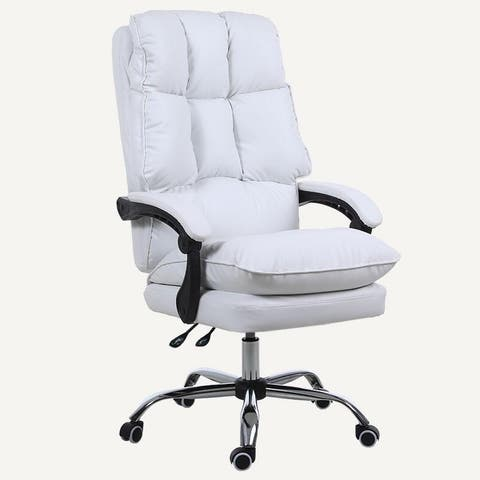 Kerrogee Adjustable Full Leather High Back Recliner Executive Chair - 42.1''H x 26.8''D x 25.6''W