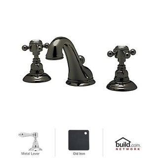 Rohl A1408LM-2 Country Bath Widespread Bathroom Faucet with Pop-Up Drain and Metal Lever Handles