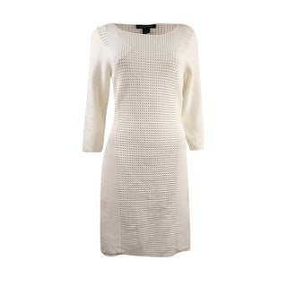 Lauren Ralph Lauren Women's 2 PC Open Knit Sheath Dress - White