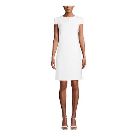 ANNE KLEIN White Cap Sleeve Short Dress 2