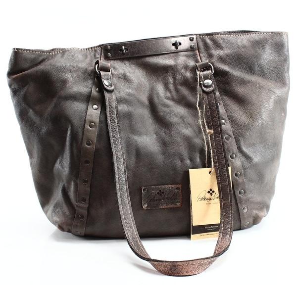 976cb9bb2 Shop Patricia Nash NEW Gray Pebbled Leather Large Benvenuto Tote ...