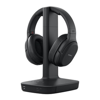 Sony WH-L600 Digital Surround Wireless Over-Ear Headphones with Charging Stand (Black)