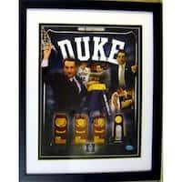 Mike Krzyzewski Autographed Photo Duke Blue Devils 8 x 10 Image No