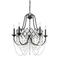 """Designers Fountain 90385 Ravina 5-Light 26"""" Wide Single Tier Candle Style Chandelier with Crystal Accents - Vintage Bronze - n/a"""