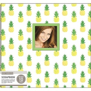 """K&Company Patterned Post Bound Window Album 12""""X12""""-Pineapple Scatter"""