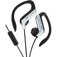 Jvc  Sport-Clip In-Ear Headphones With Microphone and Remote - Silver