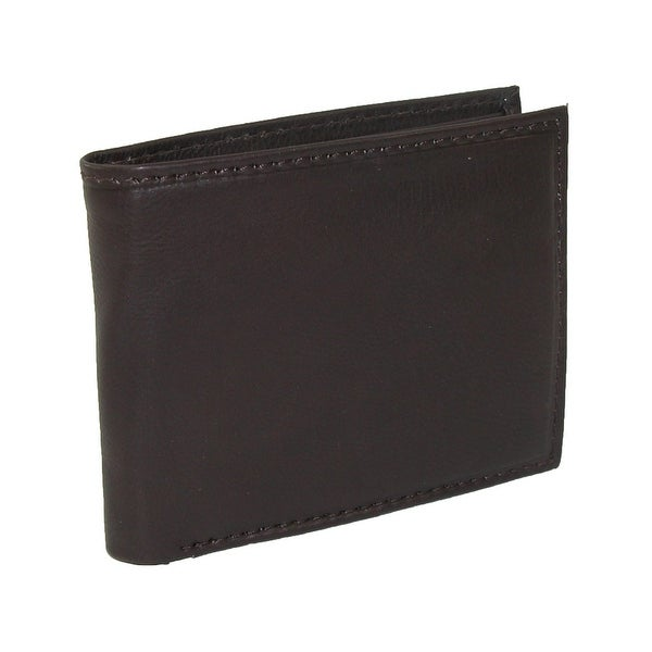 Paul & Taylor Men's Leather with Coin Pocket Bifold Wallet - one size