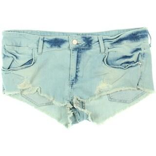 Zara Basic Womens Denim Destroyed Cutoff Shorts - 12