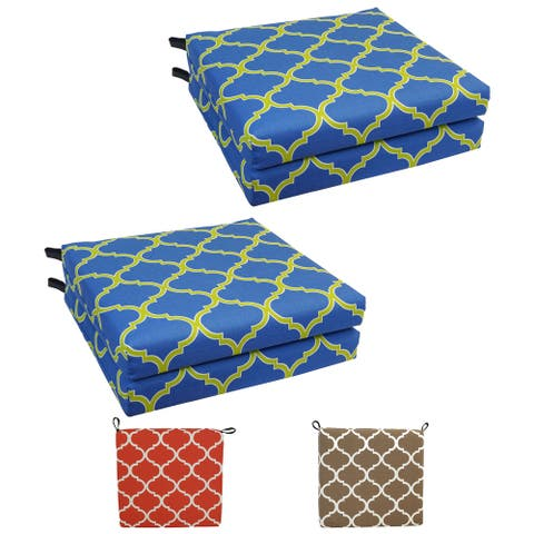 20-inch by 19-inch Patterned Outdoor Chair Cushions (Set of 4)