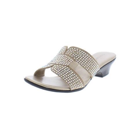 Karen Scott Womens Esmayy Slide Sandals Faux Suede Open Toe