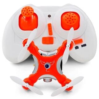 CX-10C 2.4G 4CH Mini RC Quadcopter Drone 6-Axis Gyro 0.3MP Camera LED Toy Gift - black, orange