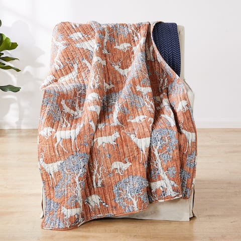 Barefoot Bungalow Menagerie Quilted Throw Blanket