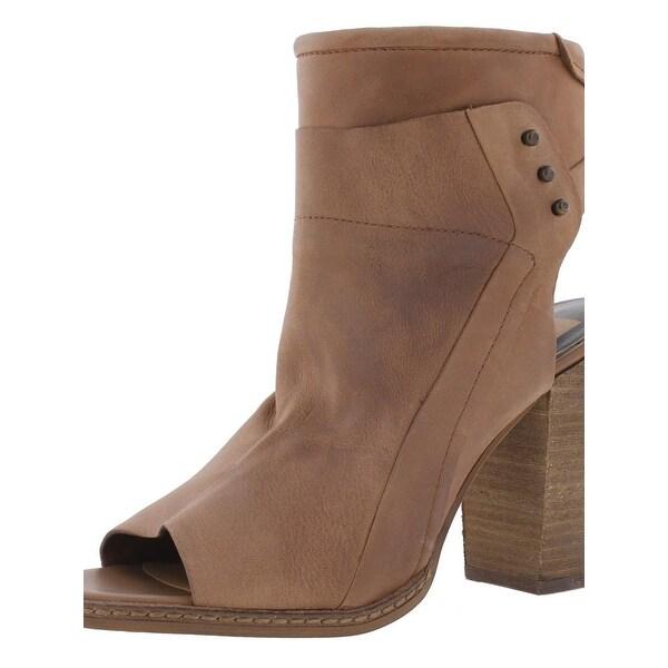 Dolce Vita Womens V-Niki Ankle Boots Open Back Open Toe