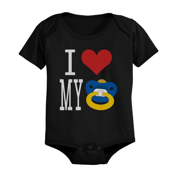I Love My Pacifiers Funny Black Baby Bodysuit Great Gift Ideas