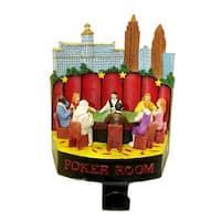 """6"""" Casino Gambling Poker Room Christmas Stocking Holder"""
