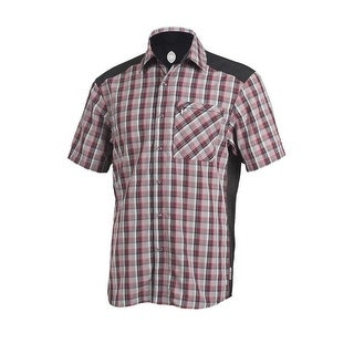 Club Ride Shirt Mens New West S/S Plaid Button Cycling MJNW2504