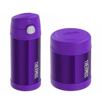 Thermos Funtainer Insulated 12oz Drink Bottle and 10oz Food Jar (Violet)