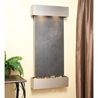 Cascade Springs Fountain - Stainless Steel - Squared Edges - Choose Options