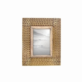 Link to Foreside Home & Garden 4 x 6 inch Decorative Distressed Hammered Brass Metal Picture Frame Similar Items in Decorative Accessories