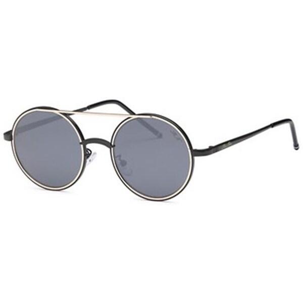 75815c5c5b3 Shop Mia Nova MN2017-119 BLACK Punk Rock Round Style Sunglasses ...