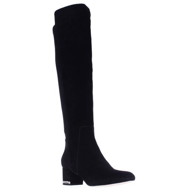 MICHAEL Michael Kors Sabrina Over The Knee Stretch Heel Chain Boots , Black