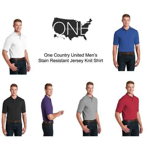 One Country United Men's Stain Resistant Jersey Shirt