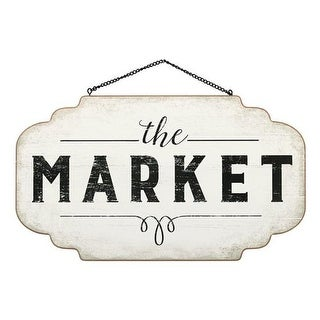 Open Road Brands 90170462-S The Market Hanging Wood Sign