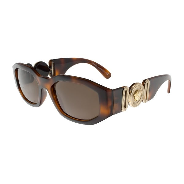 8fbf5a57dc Shop Versace VE4361 521773 Havana Irregular Sunglasses - 53-18-140 ...