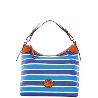 Dooney & Bourke Eastham Large Erica (Introduced by Dooney & Bourke at $169 in Nov 2015) - blue navy white