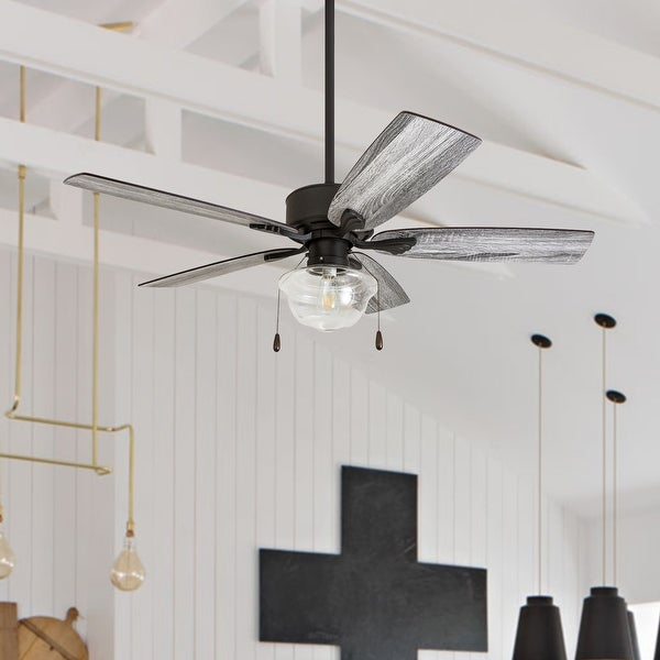 The Gray Barn Belvoir 52-inch Coastal Indoor LED Ceiling Fan with Pull Chains 5 Reversible Blades - 52. Opens flyout.