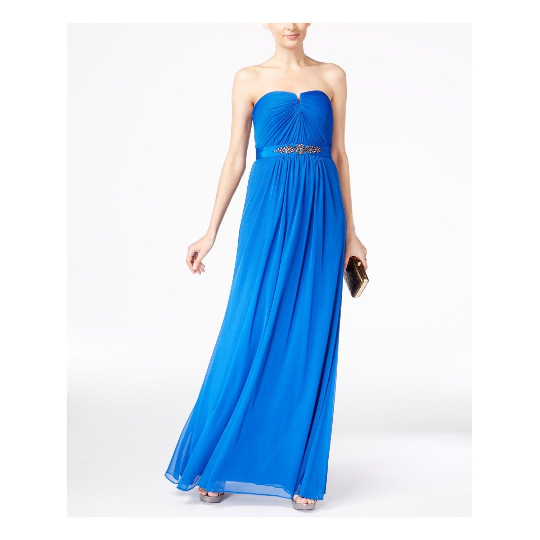 Blue Sleeveless Maxi Shift Dress Size