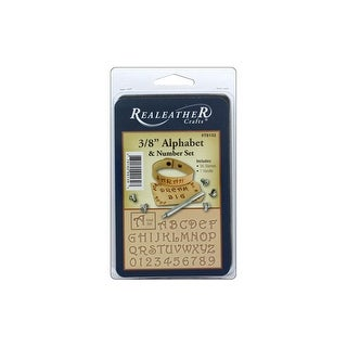 "Silver Creek Stamp Set 3/8"" Alphabet & # Fancy"