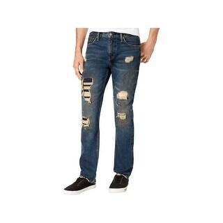 Levi Strauss & Co. Mens 511 Slim Leg Jeans Denim Destroyed - 32/30