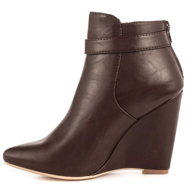 Just Fab Womens Taya Closed Toe Ankle Fashion Boots