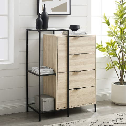 Carson Carrington 4 Drawer Mixed Material Accent Chest