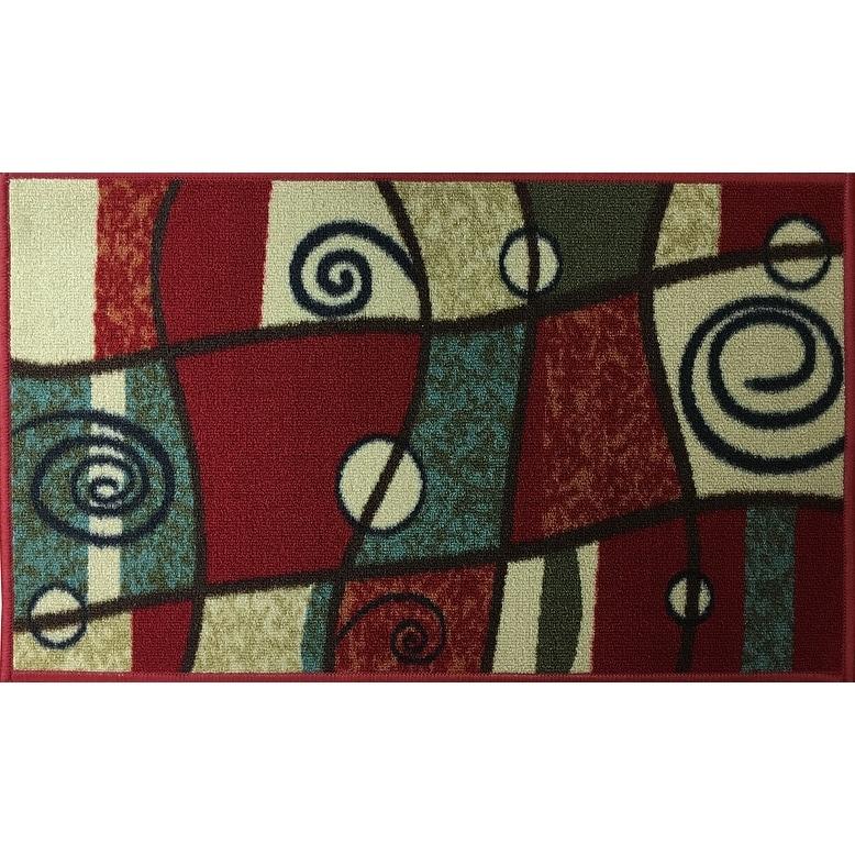 "Swan Comfort Home Fashion Printed Doormat Scrape Dirt & Grass Textured Grip Bottom 18"" x 31"" - Thumbnail 0"