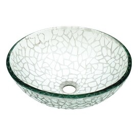 Vessel Sink Bathroom Frosted Cobblestone Textured Glass