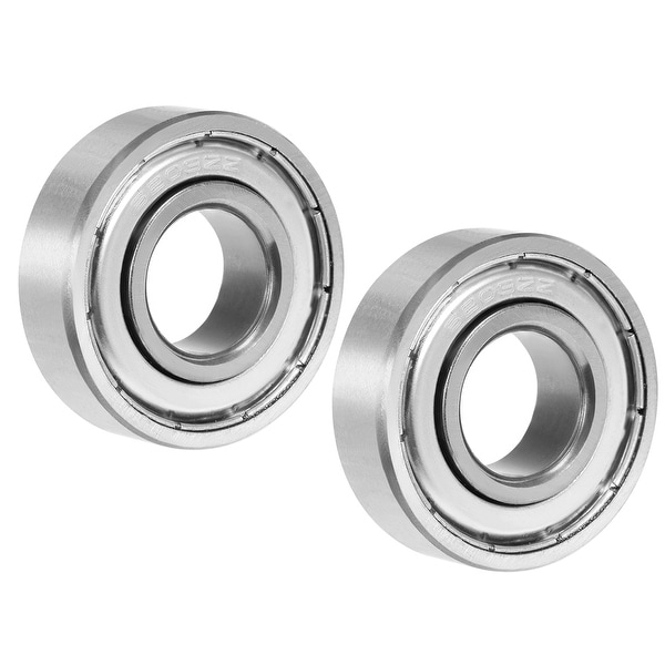 6203ZZ Groove Ball Bearing 17x40x12mm Double Shielded Carbon Steel Bearings 2Pcs - Pack of 2 - 6203ZZ (17*40*12)